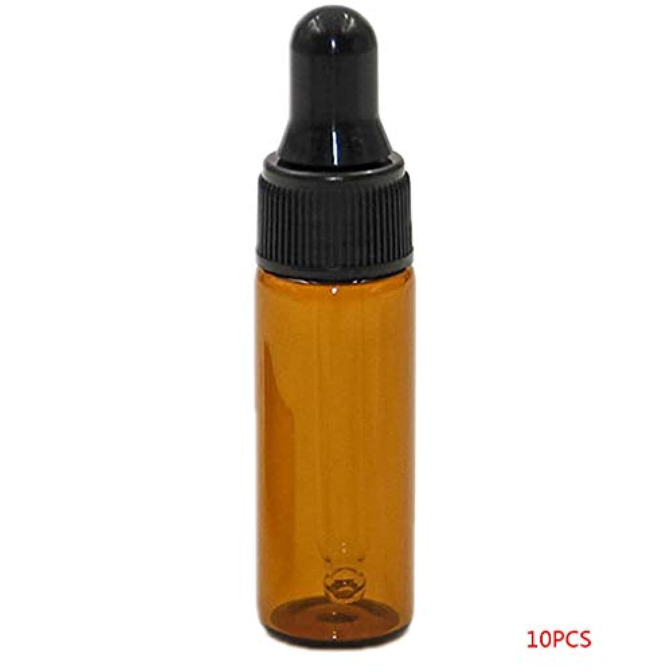 致命的文字予防接種するTopFires アロマオイル 精油 小分け用 遮光瓶 セット 茶 ガラス アロマ ボトル オイル 用 茶色 瓶 ビン エッセンシャルオイル 保存 詰替え 瓶 ビン