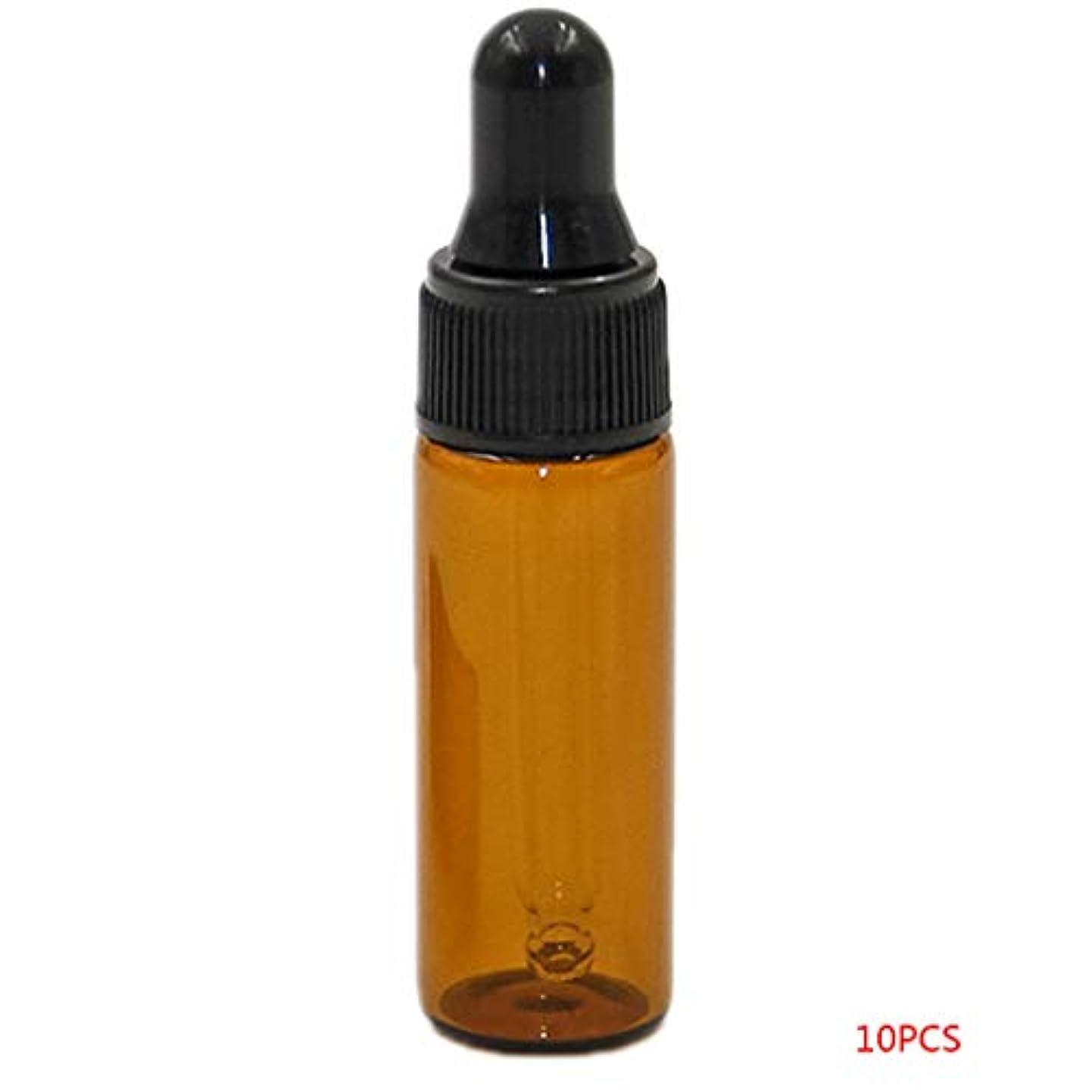 申し立てられたルアースローuzinby アロマオイル 精油 小分け用 遮光瓶 セット 茶 ガラス アロマ ボトル オイル 用 茶色 瓶 ビン エッセンシャルオイル 保存 詰替え 瓶 ビン