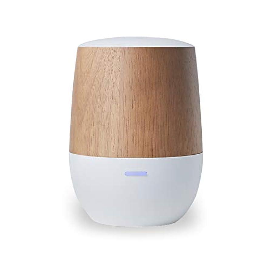 いとこ定義するリサイクルするLOWYA(ロウヤ)アロマディフューザー 水を使わない ネプライザー式 USB 木目 小型 1年保証 アロマオイル対応 ホワイト/ウッド