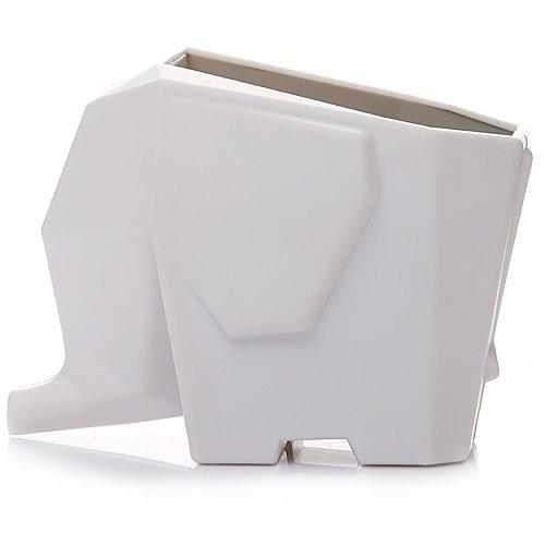 【MVO selectshop】 可愛い ゾウさん カトラリードレイナー 歯ブラシスタンド 幸運のお守り 風水 アジアン雑貨 (ホワイト)