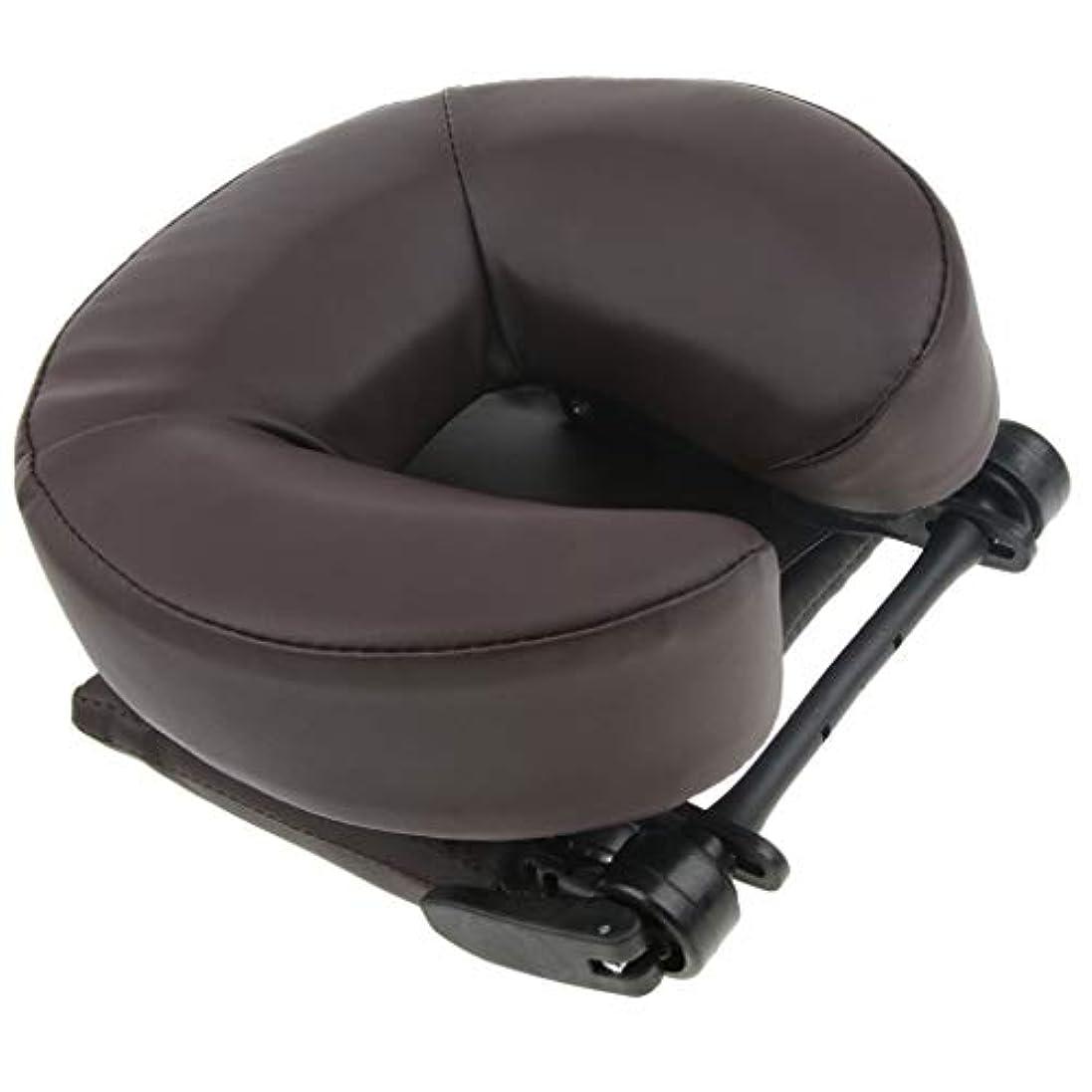Baoblaze サロン スパ用 顔マクラ マッサージ用クッション 顔枕 首枕 ネックピロー 高密度フォーム 2色選ぶ - コーヒー