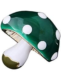 GuDeKe レディース メンズ ジュエリー アクセサリー 可愛い キノコ ブローチ (グリーン)