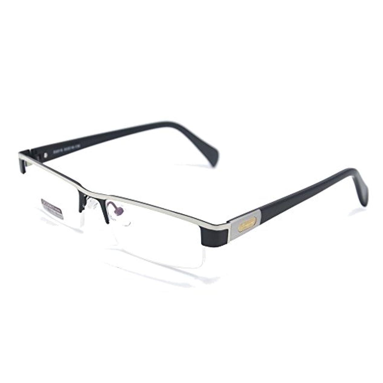 チタン合金フレーム非球面老眼鏡 おしゃれリーディンググラス 度数「+1.0~+4.0」yr2015 (二本セット (+3.5))