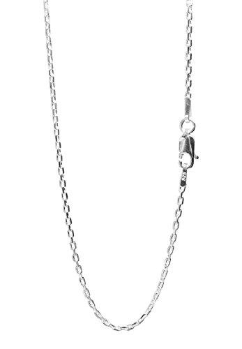 新宿銀の蔵 あずきチェーン 4面カット 長さ40~60cm (45cm) 幅1.6mm シルバー 925 ネックレス チェーン ネックレスチェーン レディース sv