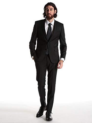 (ヒューゴ ボス) HUGO BOSS ウール100% ミニドット シングル 2ツ釦 ノータック スーツ SLIMFIT [HBHG10225304] [並行輸入品]