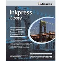 Inkpress Luster &光沢240gsm、10.4Mil、94%明るい、片面、5x 7–500