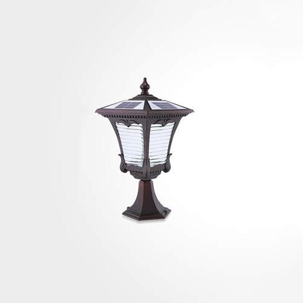 フィールドチャペル着るPinjeer ソーラーled IP55防水屋外ガーデンガラスコラムランプヴィンテージクリエイティブ2色調光金属アルミアンチ防錆ポストライトヴィラドア風景ストリート装飾的な柱ライト