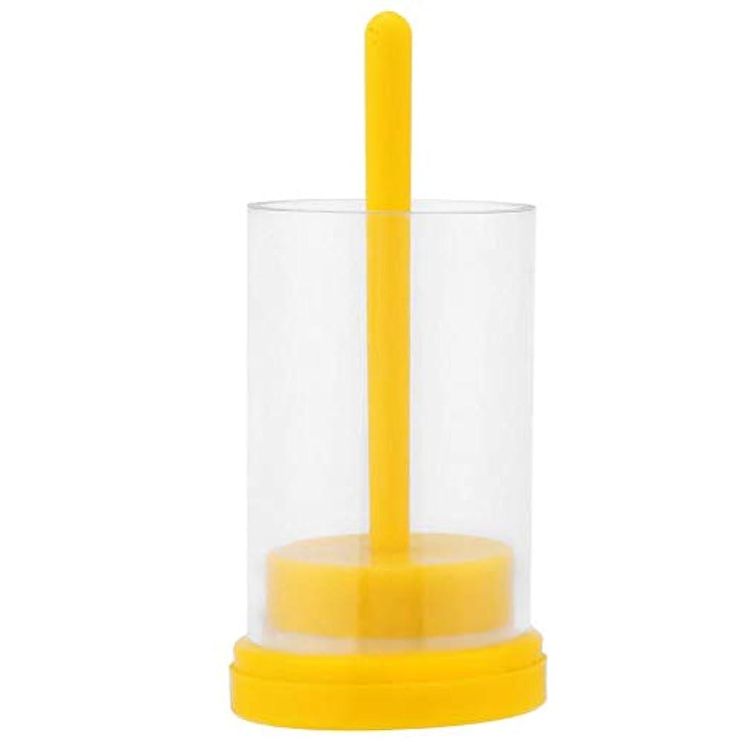 無傷サーキュレーション抽象化クイーンビーマーカー1PC 蜂の巣用 便利なソフトプランジャー付き マーキングケージボトル