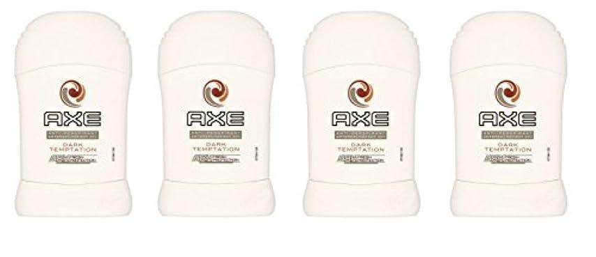 救急車邪魔する幾分(Pack of 4) Axe Dark Temptation Anti-perspirant Deodorant Sold Stick for Men 4x50ml - (4パック)斧暗い誘惑制汗剤デオドラント固体スティック男性用4x50ml