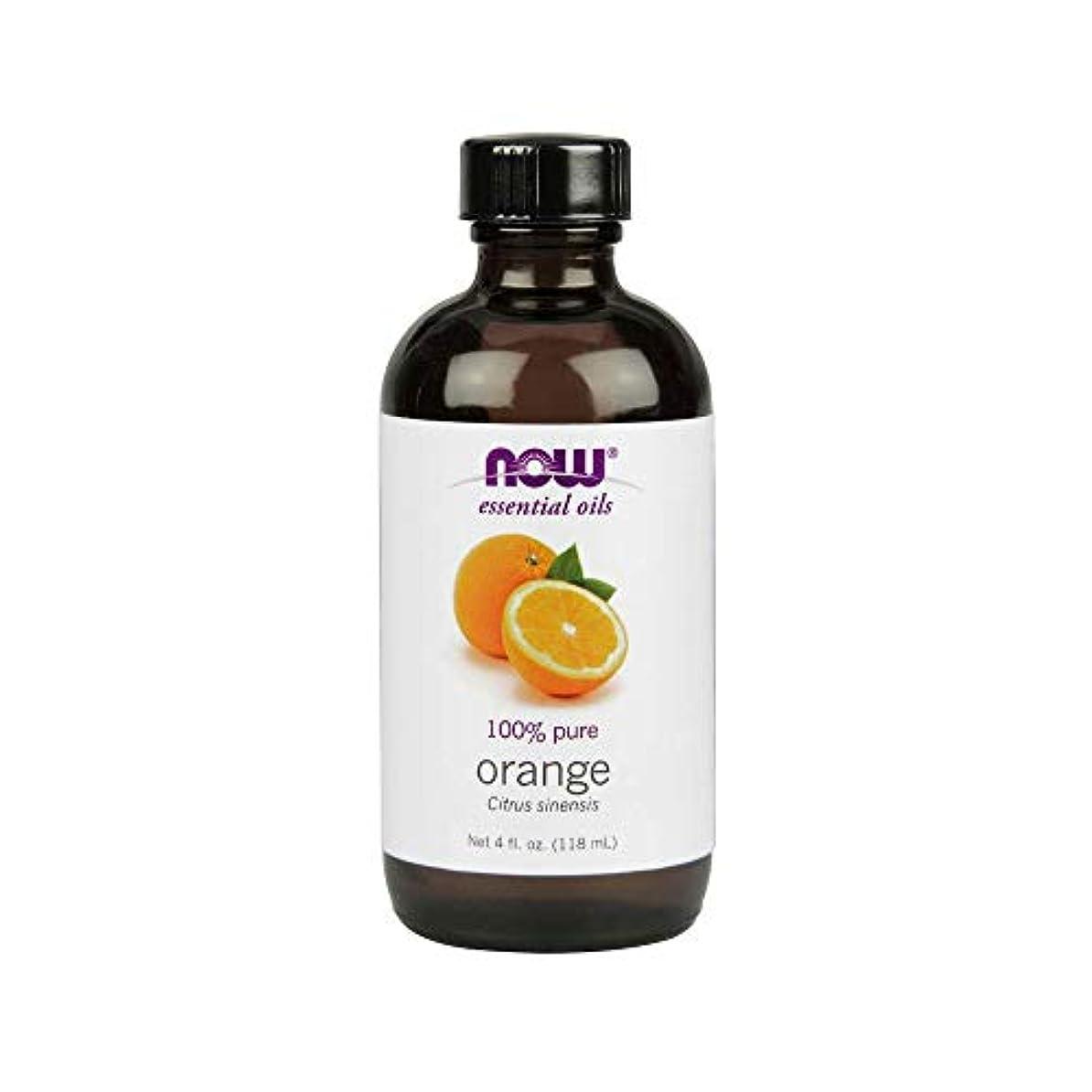新鮮なでるうがい薬ナウフーズエッセンシャルアロマオイル オレンジ 118ml 【正規輸入品】