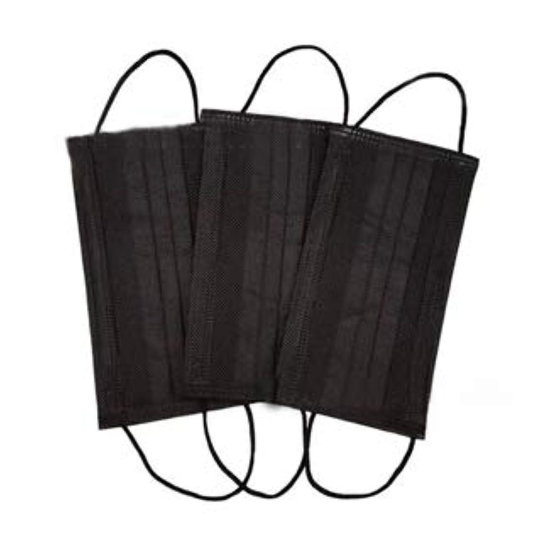 先に遊び場排除使い捨てマスク ブラック 6枚入り 不織布 フェイスマスク mask 黒