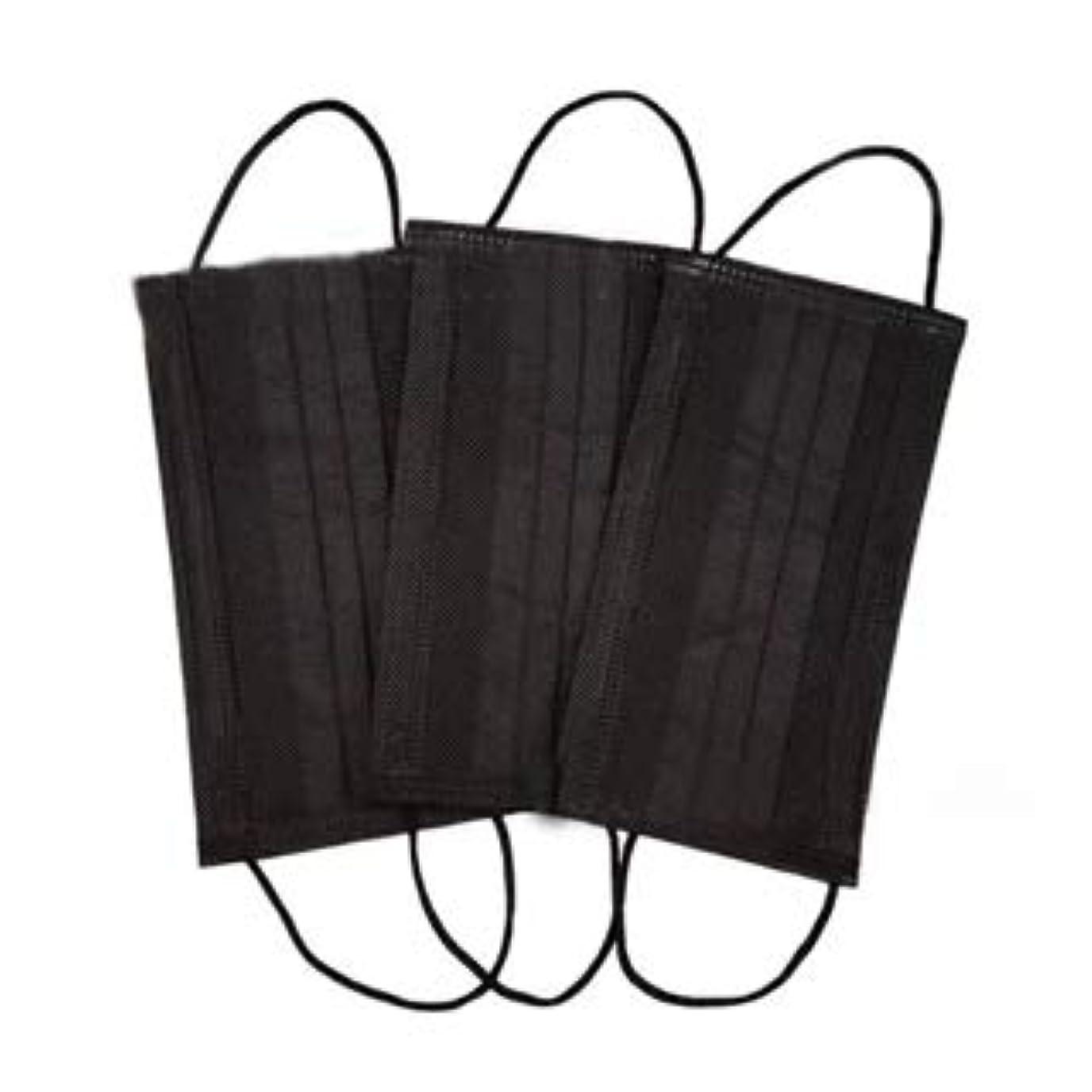 ブロー楽しい階下使い捨てマスク ブラック 6枚入り 不織布 フェイスマスク mask 黒