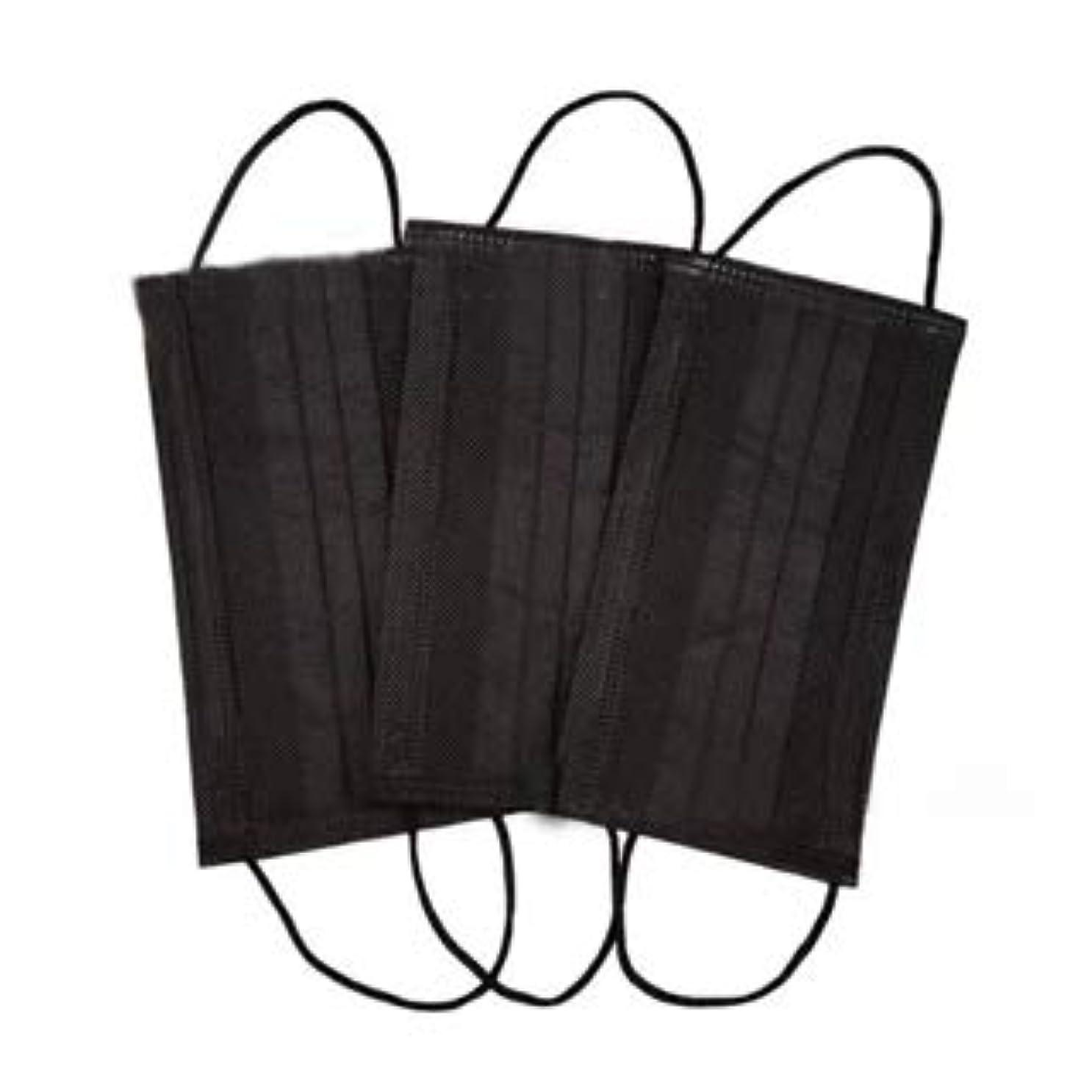弱い生命体旅使い捨てマスク ブラック 6枚入り 不織布 フェイスマスク mask 黒