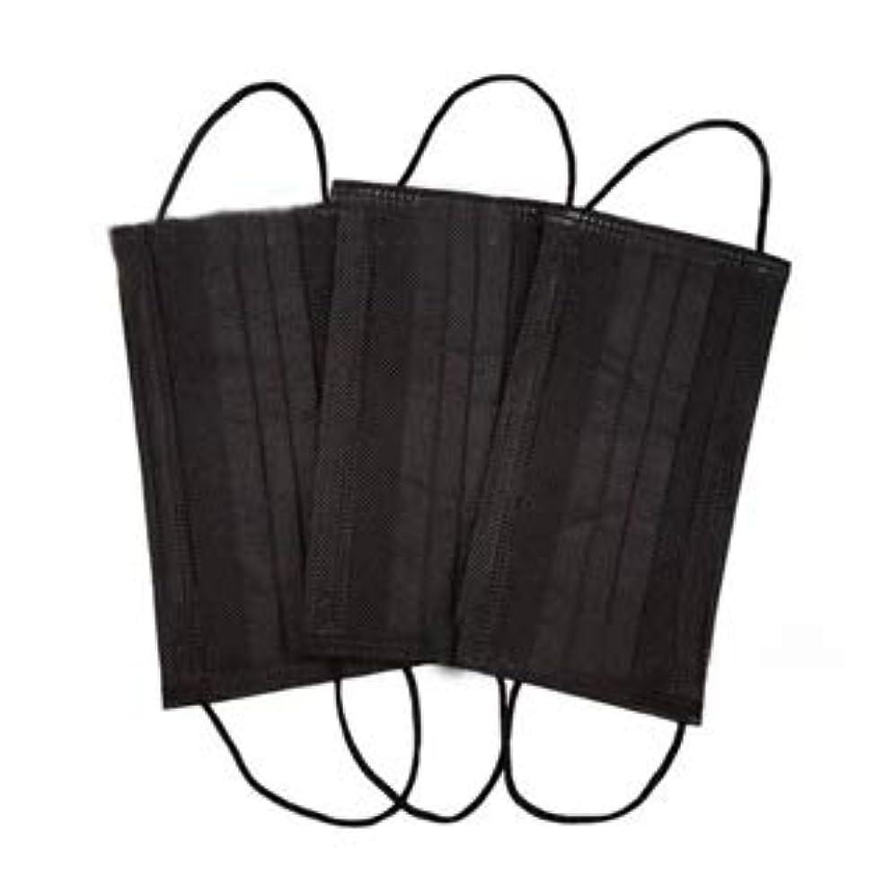 霜展示会盲信使い捨てマスク ブラック 6枚入り 不織布 フェイスマスク mask 黒