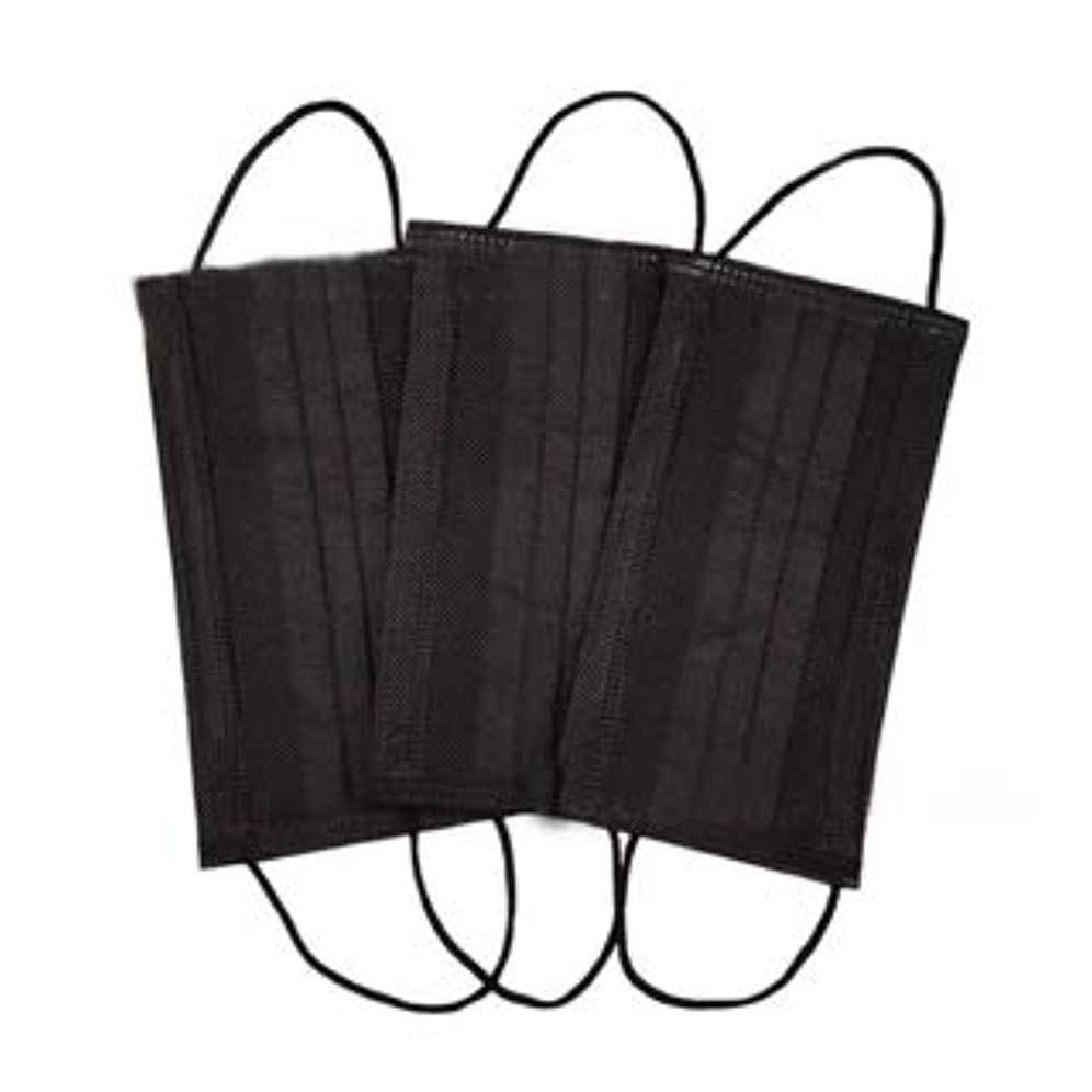 友情小数電化する使い捨てマスク ブラック 6枚入り 不織布 フェイスマスク mask 黒