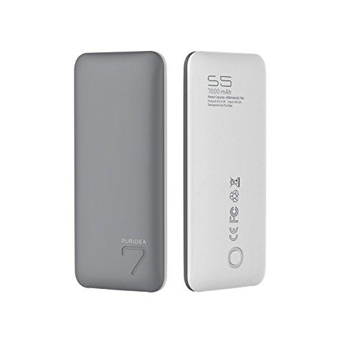 Puridea 7000mAh モバイルバッテリー 携帯充電...