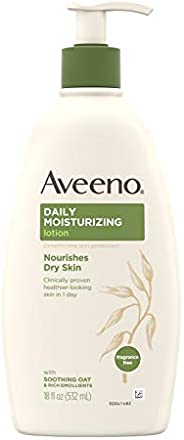 Aveeno Daily Moisturizing Body Lotion with Soothing Oat and Rich Emollients to Nourish Dry Skin, Gentle &