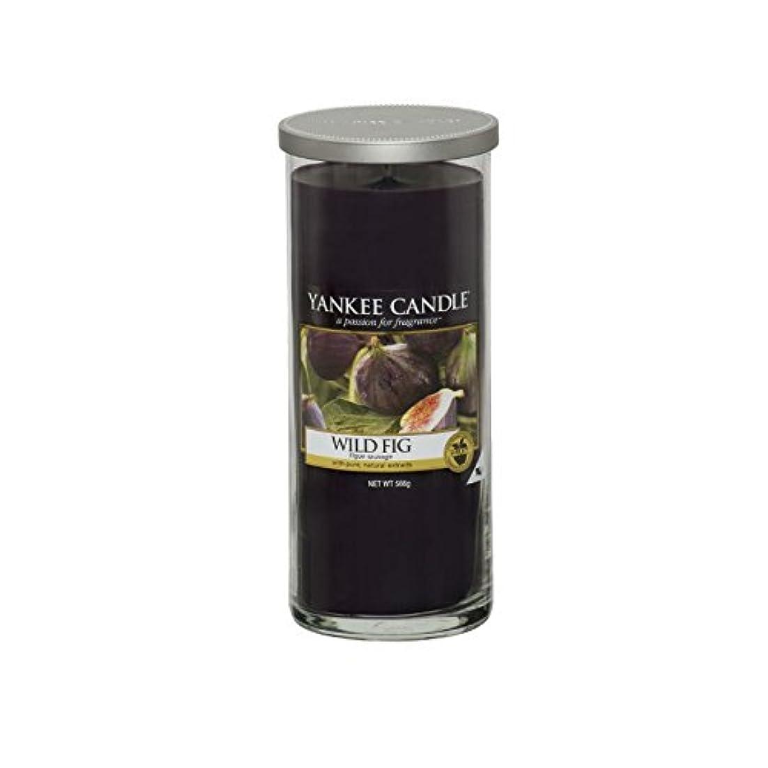 束抽選短くするヤンキーキャンドル大きな柱キャンドル - 野生のイチジク - Yankee Candles Large Pillar Candle - Wild Fig (Yankee Candles) [並行輸入品]
