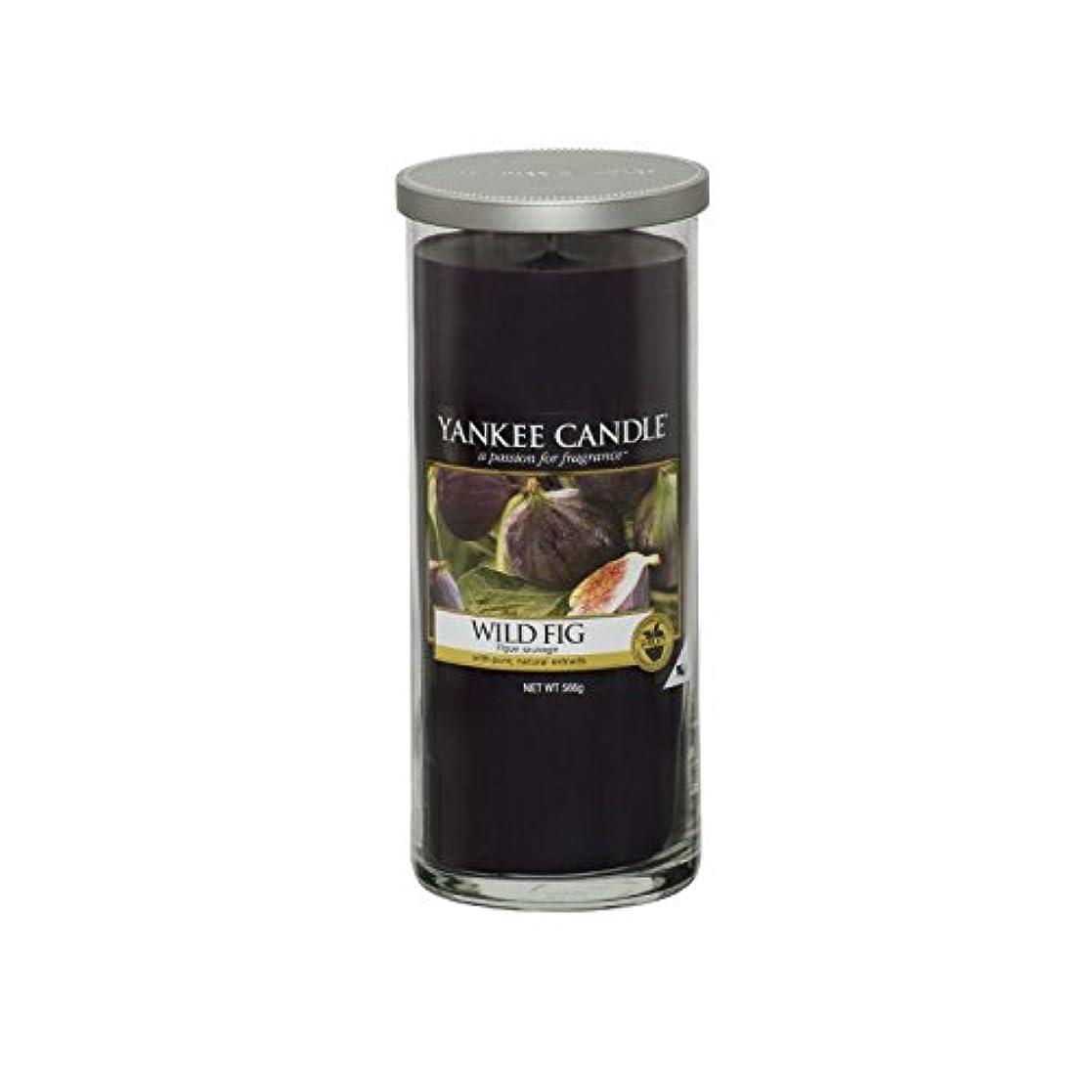 モバイル移植固執Yankee Candles Large Pillar Candle - Wild Fig (Pack of 6) - ヤンキーキャンドル大きな柱キャンドル - 野生のイチジク (x6) [並行輸入品]