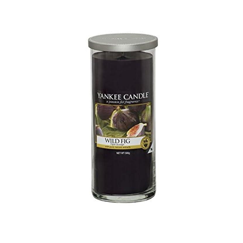 近似フェザー育成Yankee Candles Large Pillar Candle - Wild Fig (Pack of 6) - ヤンキーキャンドル大きな柱キャンドル - 野生のイチジク (x6) [並行輸入品]