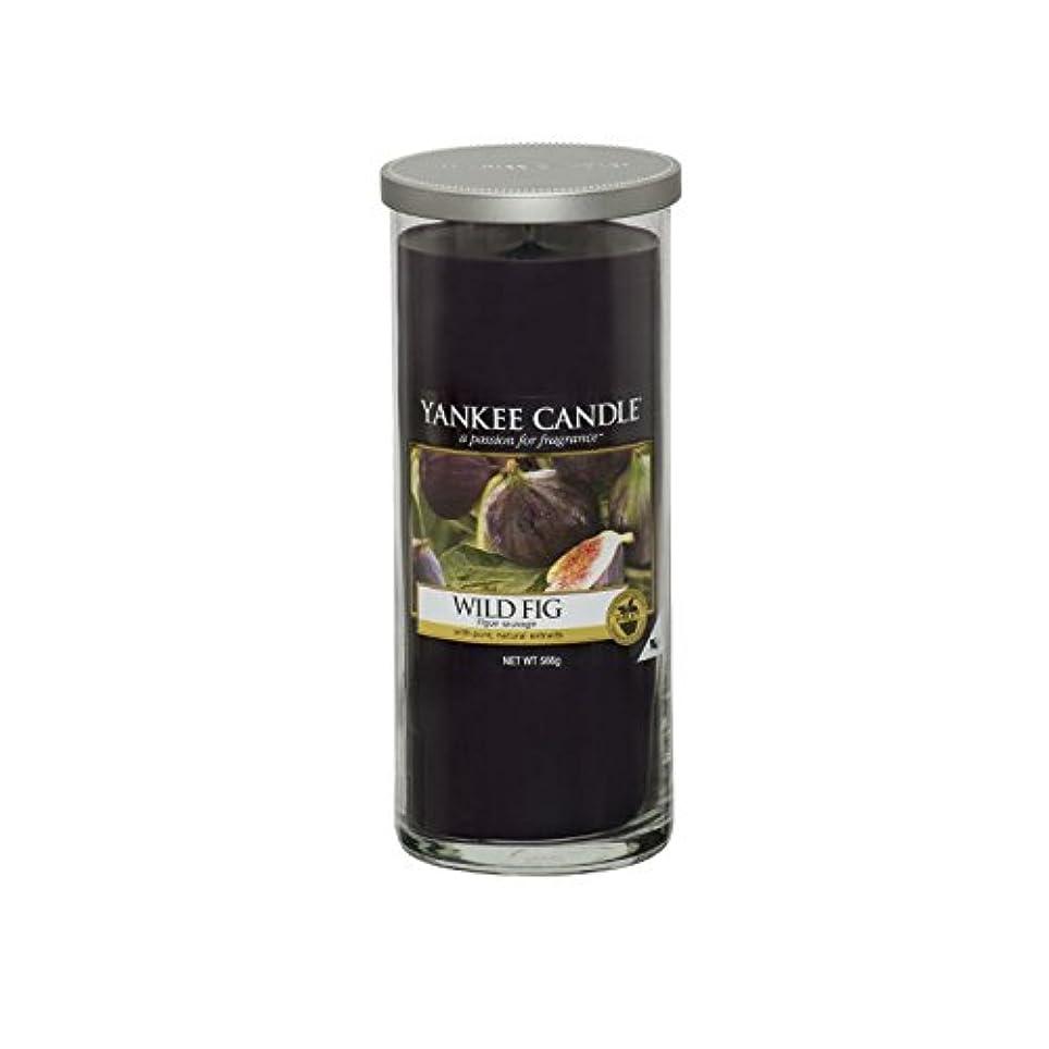 代替文字エレメンタルヤンキーキャンドル大きな柱キャンドル - 野生のイチジク - Yankee Candles Large Pillar Candle - Wild Fig (Yankee Candles) [並行輸入品]