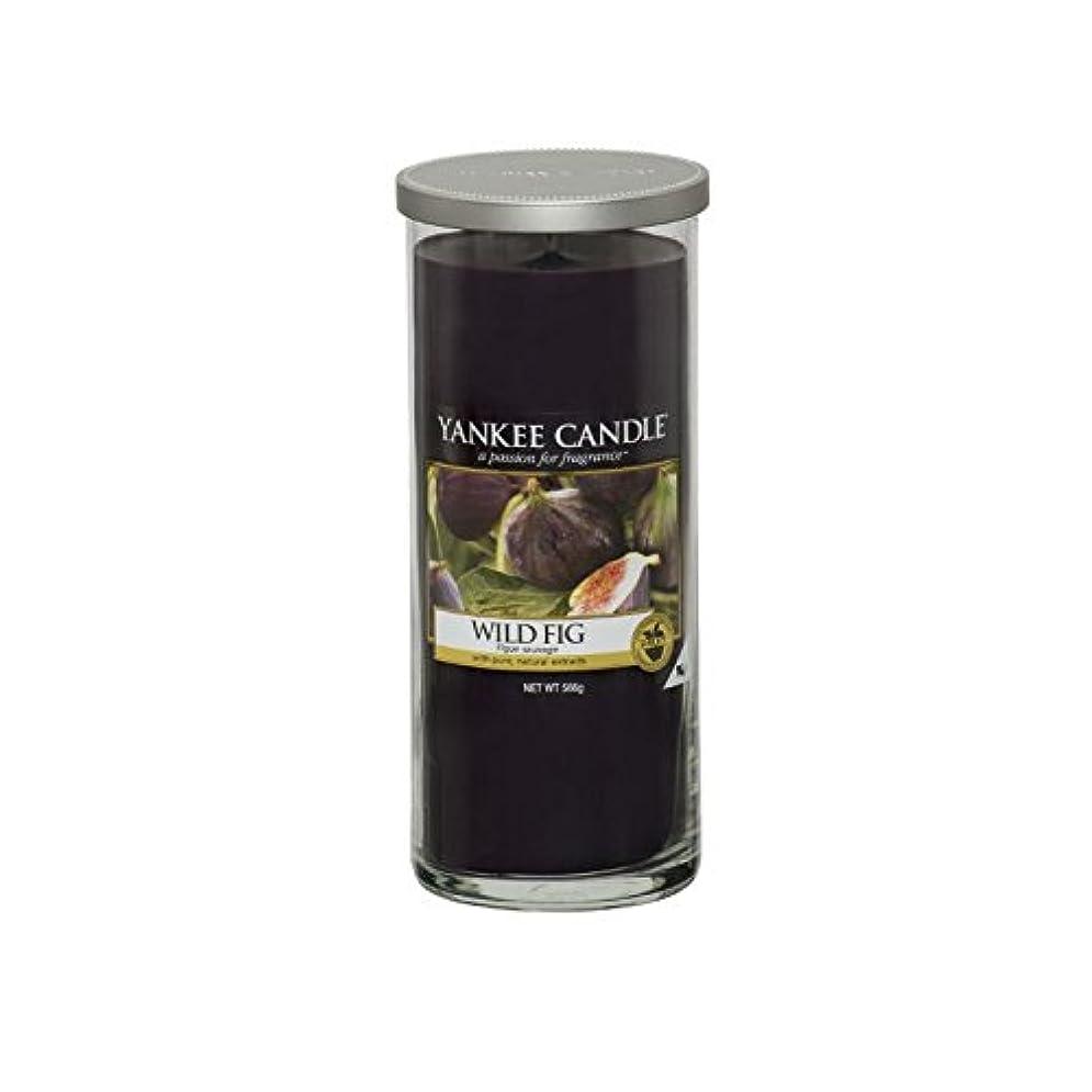有彩色の十分ではない加害者Yankee Candles Large Pillar Candle - Wild Fig (Pack of 6) - ヤンキーキャンドル大きな柱キャンドル - 野生のイチジク (x6) [並行輸入品]
