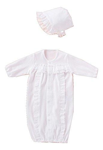 犬印本舗 INUJIRUSHI Baby 日本製 フード付ドレス&カバーオール 50-60cm  ホワイト B246006
