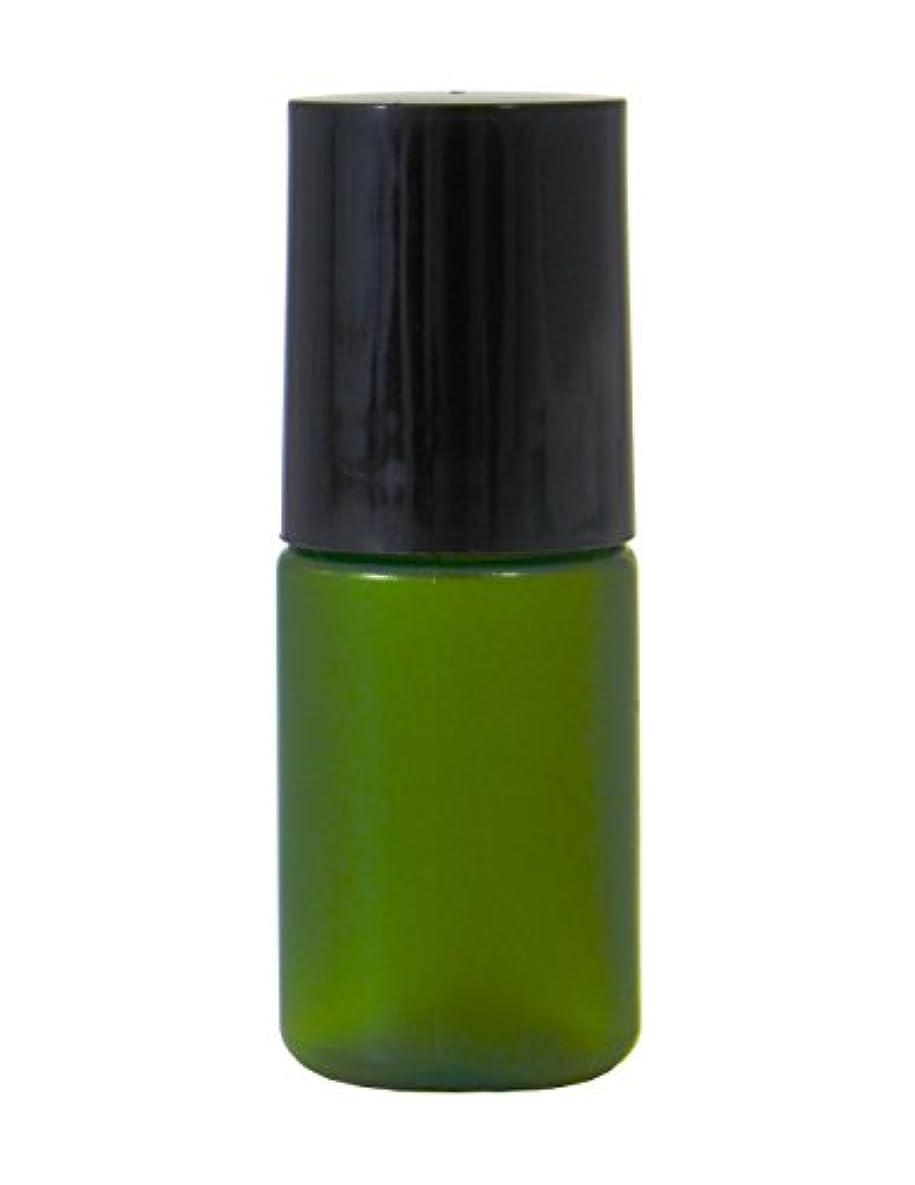 抜本的な承認するカラスミニボトル容器 化粧品容器 グリーン 5ml 50個セット