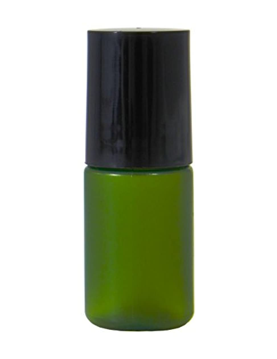 中に腹論理的にミニボトル容器 5ml グリーン (50個セット) 【化粧品容器】