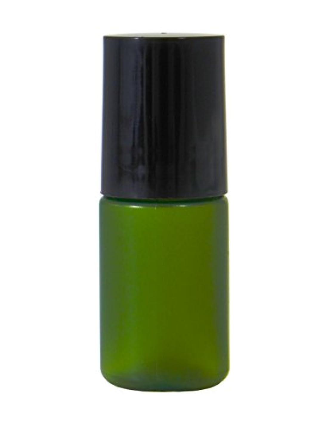 十分な三番柔和ミニボトル容器 5ml グリーン (100個セット) 【化粧品容器】