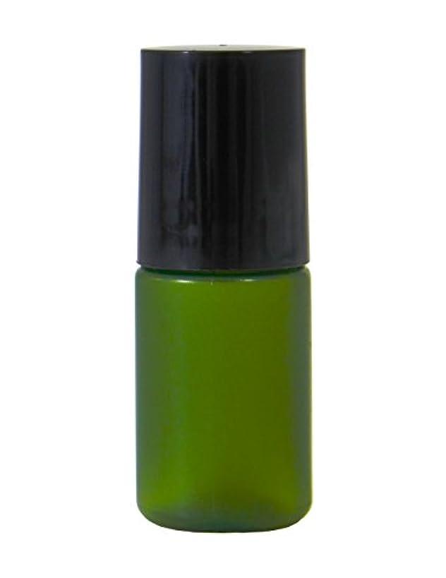 田舎危険行ミニボトル容器 化粧品容器 グリーン 5ml 100個セット