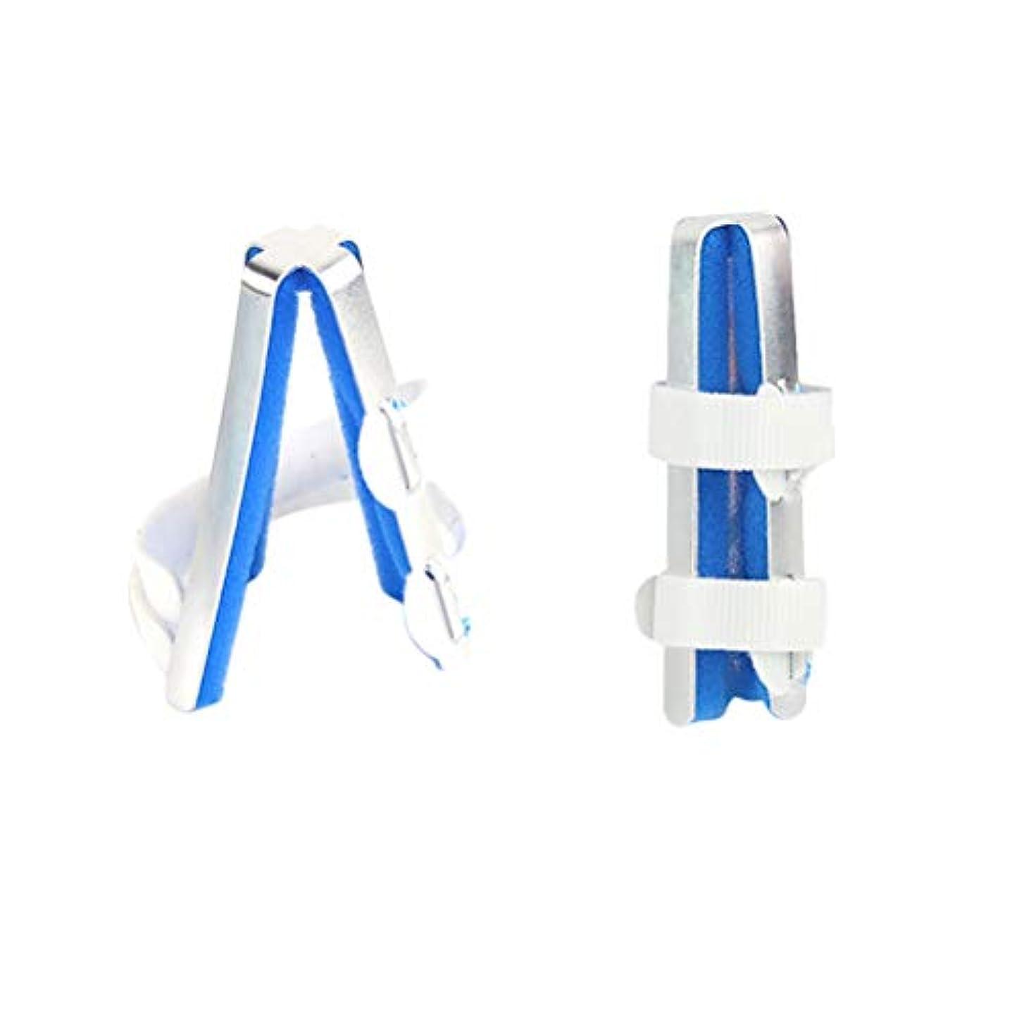 プレゼントリーガン扱いやすいHealifty 保護具のサイズMをまっすぐにしている指関節補正骨折固定副木