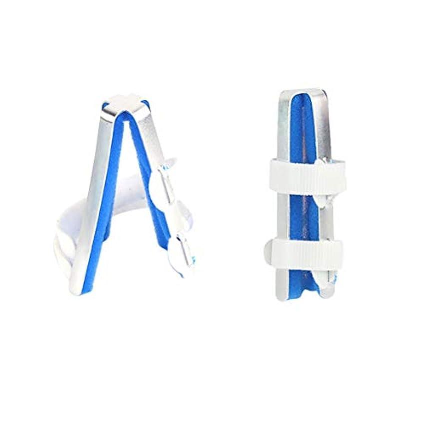 ウェイドミリメーター凝縮するHealifty 指スリーブサポートプロテクターアルミ合金指運動指関節矯正骨折固定副木サイズM 1ピース