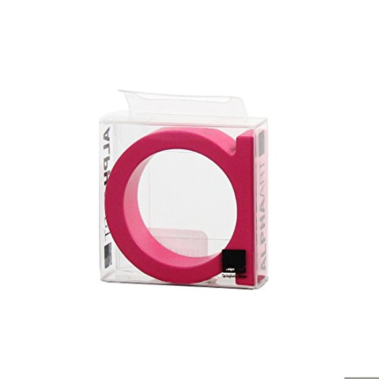 ケープどういたしましてクライアントカメヤマキャンドルハウス アルファベットブロック カラフル  アルファアートスモールa 「 ピンク 」