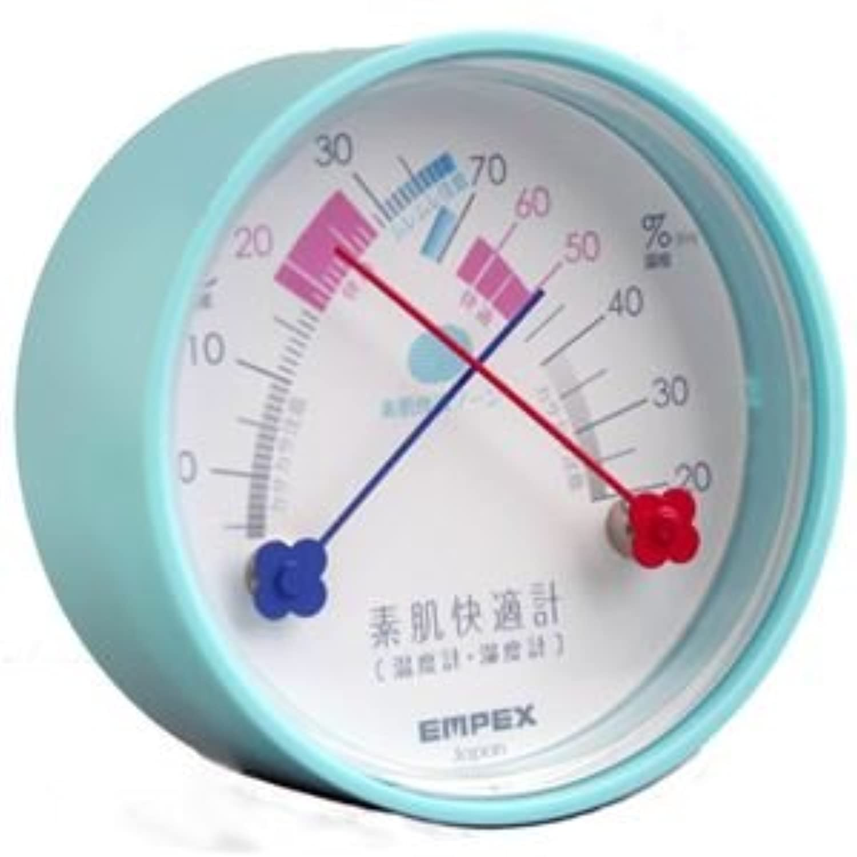 (まとめ)EMPEX 温度湿度計 素肌快適計 TM-4716 エアブルー【×5セット】