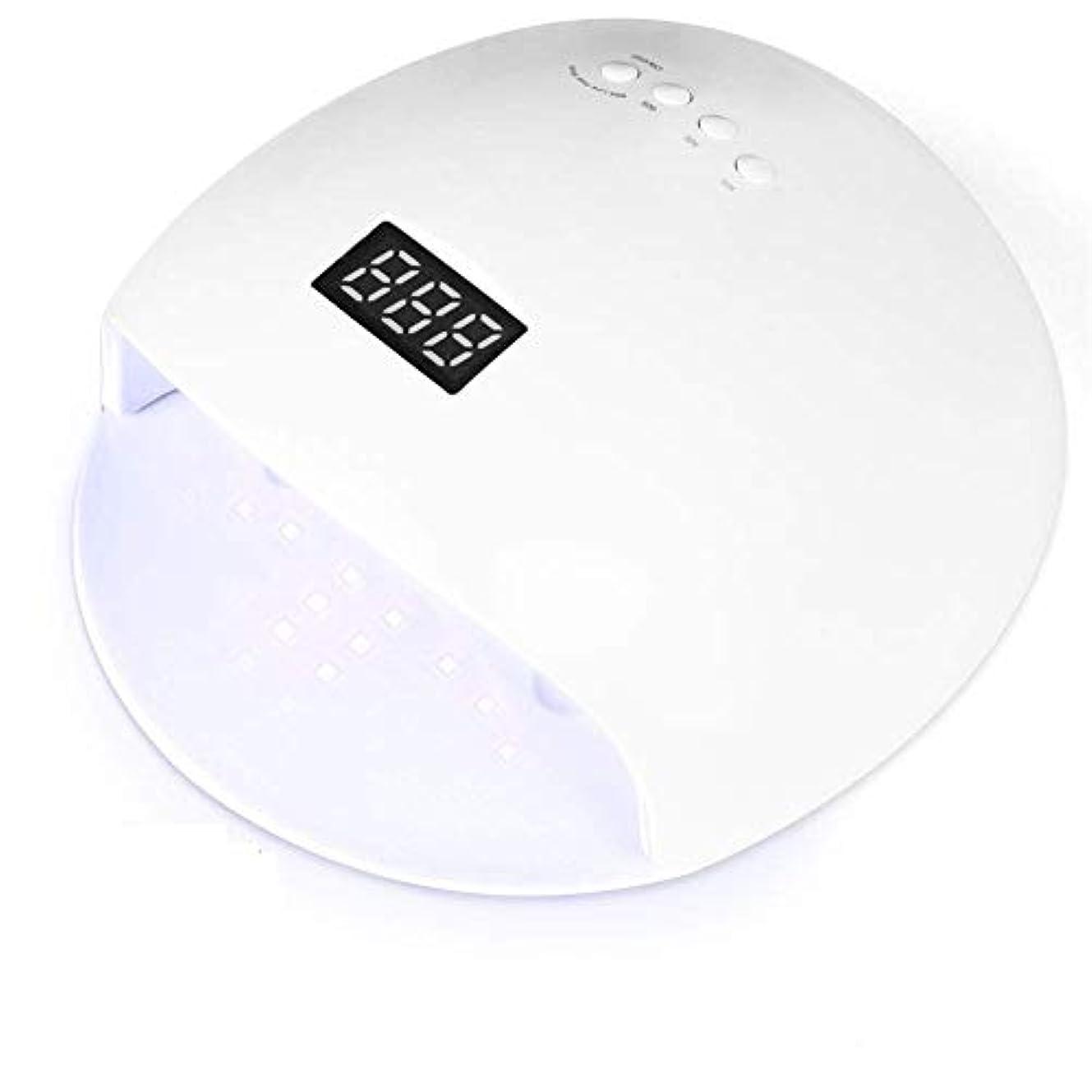 マニュアルミス時間ネイルドライヤーUVネイルランプ速乾ジェルネイルポリッシュライトLEDネイルランプシェラックUVライトジェルネイルポリッシュドライヤーキュアランプシェラックライトランプ3タイマー設定自動赤外線センサー(ホワイト)