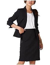 [nissen(ニッセン)] オフィススーツ スカートスーツ 上下 セットアップ 洗える オールシーズン 定番 (ひざ中丈 55cm) レディース