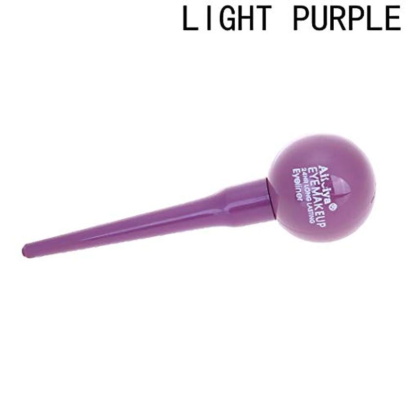 再現する白菜OU-Kunmlef 優れた女性ロリポップ化粧品防水液体アイライナーアイライナーペンシル化粧美しさ(None light purple)