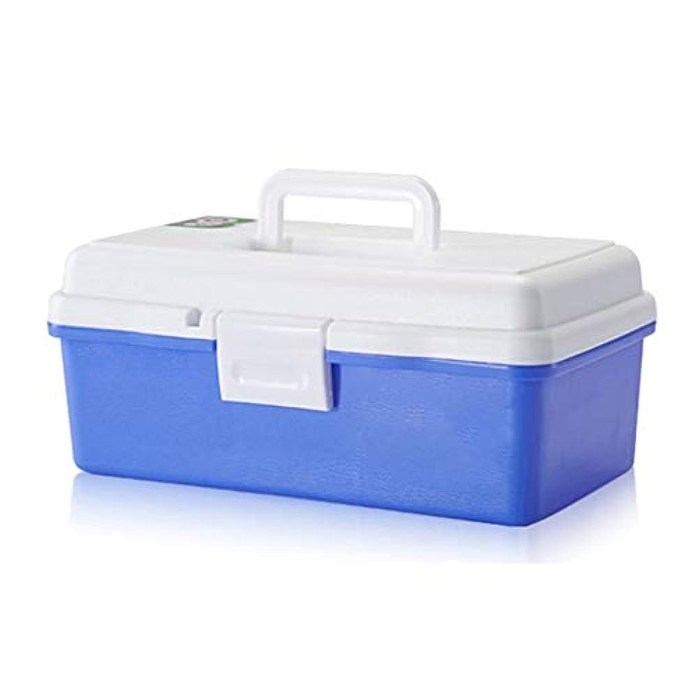 贅沢な海洋の勇気のあるXuping shop 医療用箱、2層の健康の丸薬箱の救急箱、プラスチック貯蔵容器箱のゆとり