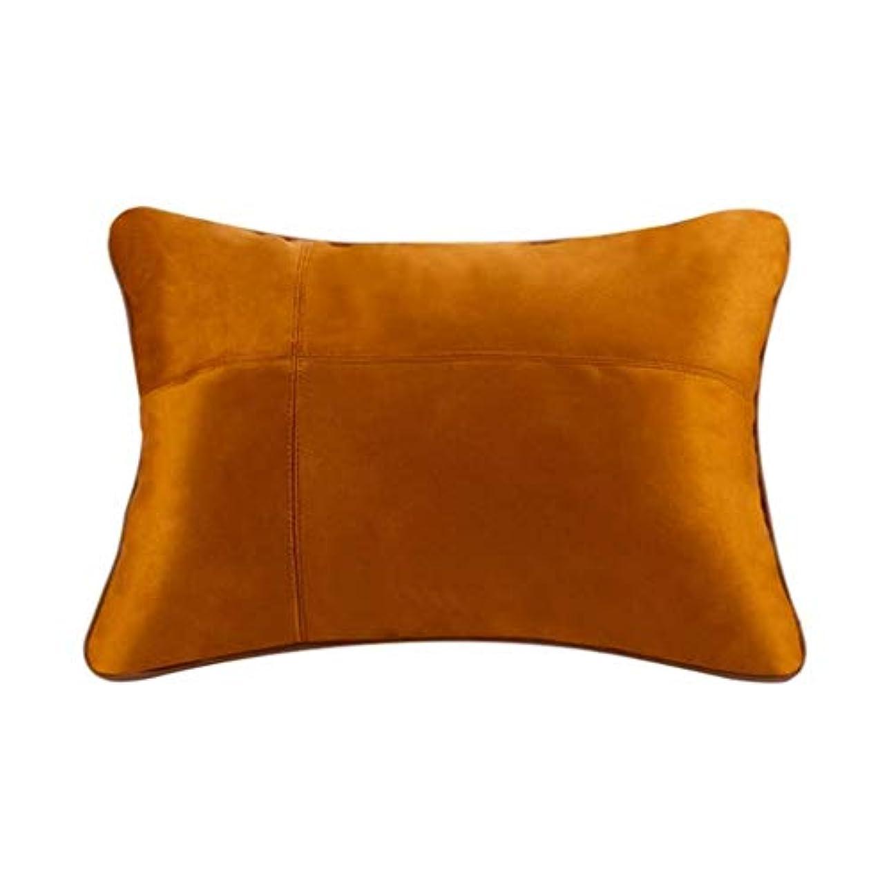 横に良心的患者枕、腰部背部支持パッド、妊娠中の腰椎枕、腰用シートクッション、姿勢ブレース、腰痛を和らげる、低反発腰椎背もたれ枕、オフィスカーチェア、車の室内装飾 (Color : Brown)