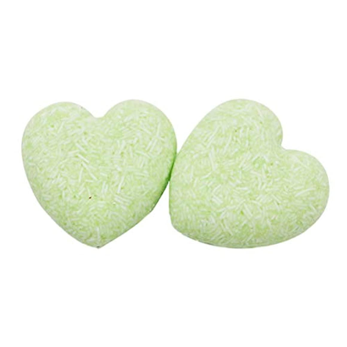 シリンダー大工革新Lurrose 2ピースヘアシャンプーバー石鹸栄養オイルコントロール育毛石鹸