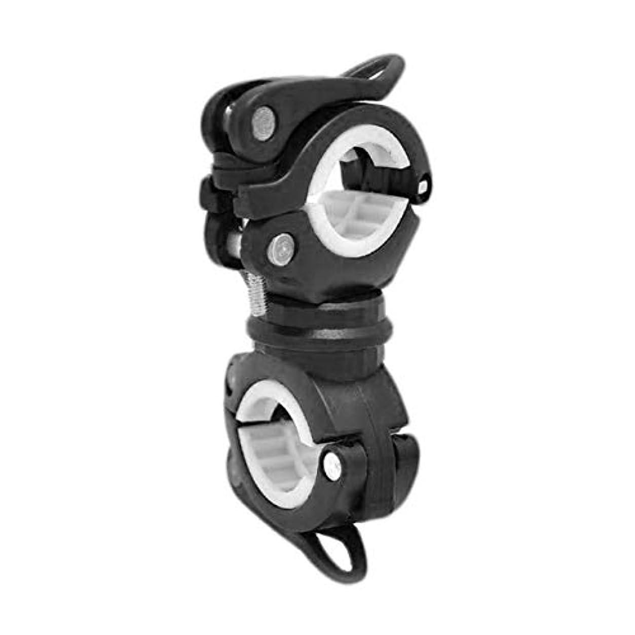 無力ウサギ付与DeeploveUU ユニバーサル自転車懐中電灯クリップ360°回転マウンテンロードバイクハンドルバートーチクリップ自転車ランプマウントブラケットホルダー