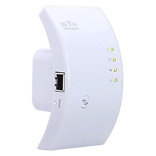 無線信号増幅装備 MECO リピータ300M 無線信号中継装置 弧状 WIFI 無線LAN中継機 ホワイト Aタイプ プラグ(アメリカ、日本適切)