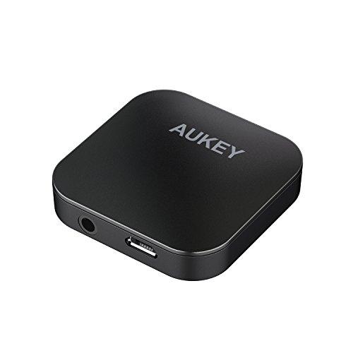 AUKEY Bluetoothトランスミッター & レシーバー 送信機+受信機 aptx対応(TXモード) 2台同時対応 13時間連続使用可能 3.5mmプラグ接続 BR-C19