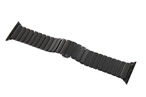 Apple Watch Series1およびSeris2用セラミック製 高品質バンド アップルウォッチ2016年製最新バンド アレルギー対策バンド 42mm ブラック