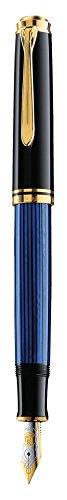 ペリカン 万年筆 EF 極細字 ブルー縞 スーベレーン M600 正規輸入品