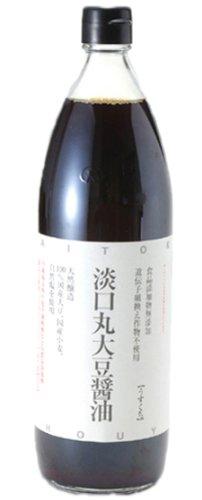 大徳醤油 丸大豆しょうゆ うすくち 900ml