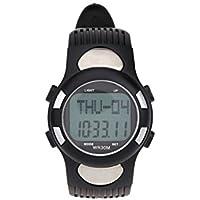 SODIAL ( R ) 3atm防水スポーツパルスハートレートモニターFitness Exercise腕時計歩数計カロリーストップウォッチアウトドアサイクリング
