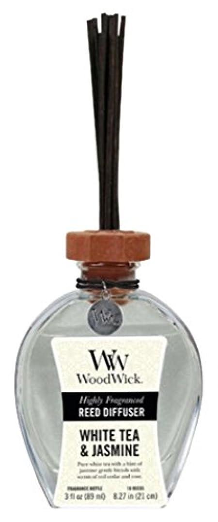 要求隣人刺繍Wood Wick ウッドウィック リードディフューザーS ホワイトティージャスミン