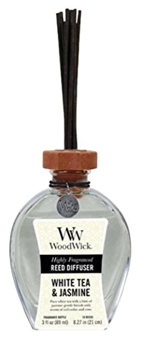 道路形状虚偽Wood Wick ウッドウィック リードディフューザーS ホワイトティージャスミン